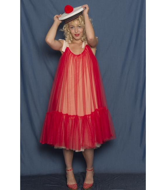 Robe Wonderfull réversible Marine - Collection Crazy Girl