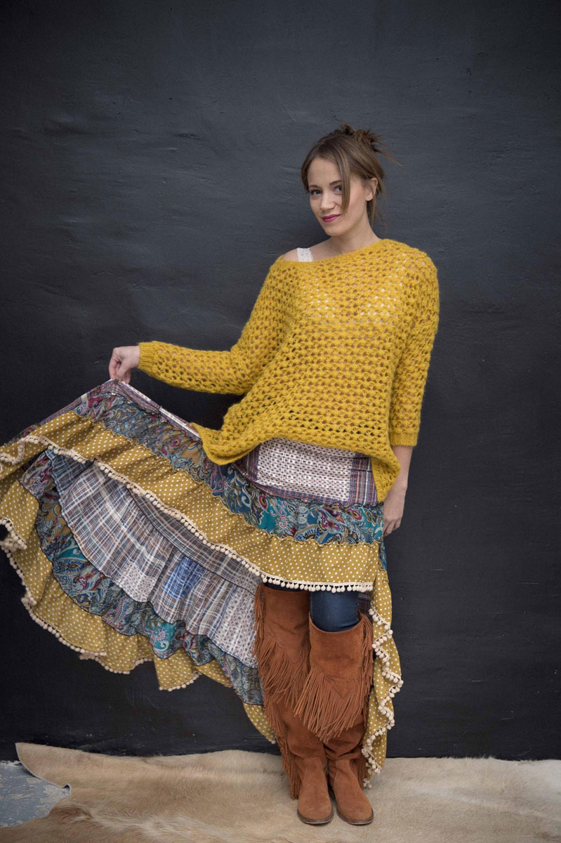 Pull Cocoon Moutarde - Collection Maille
