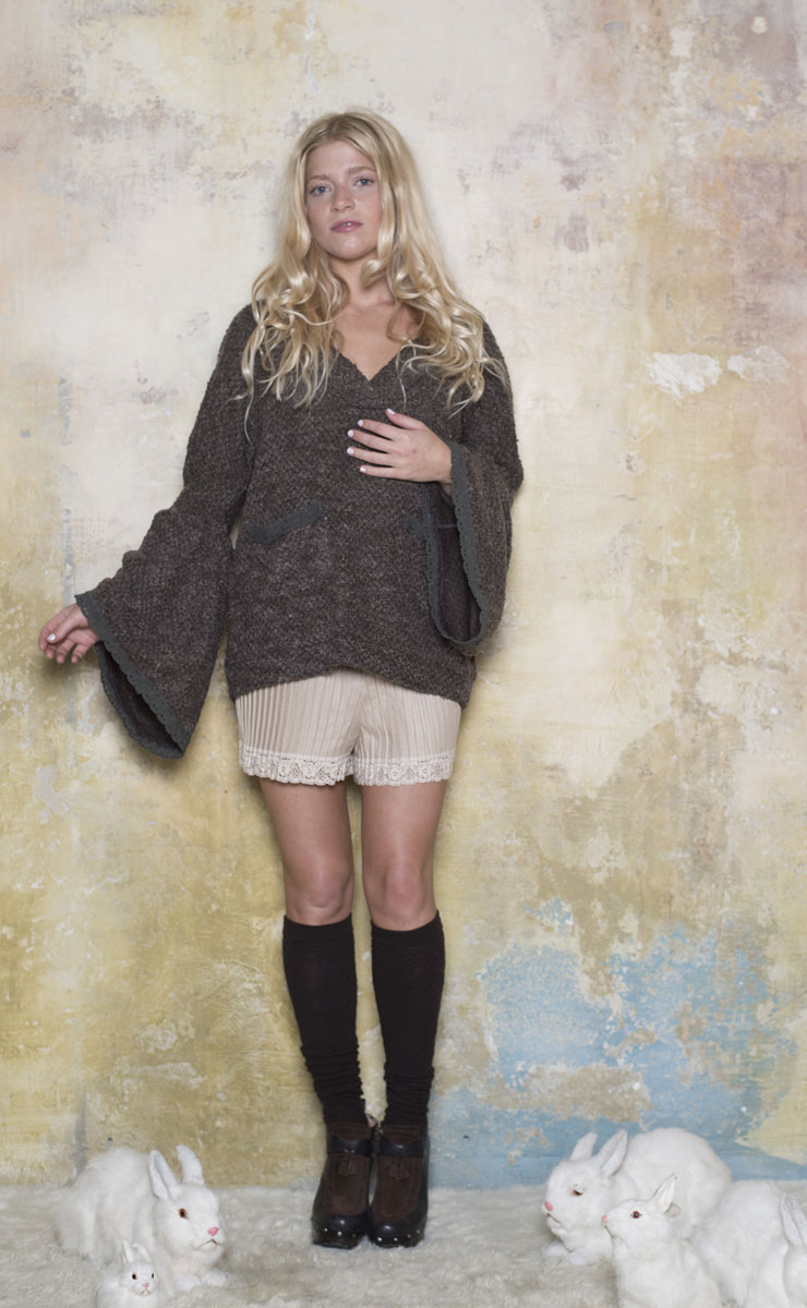Pull Angora Taupe - Collection Petite Laine
