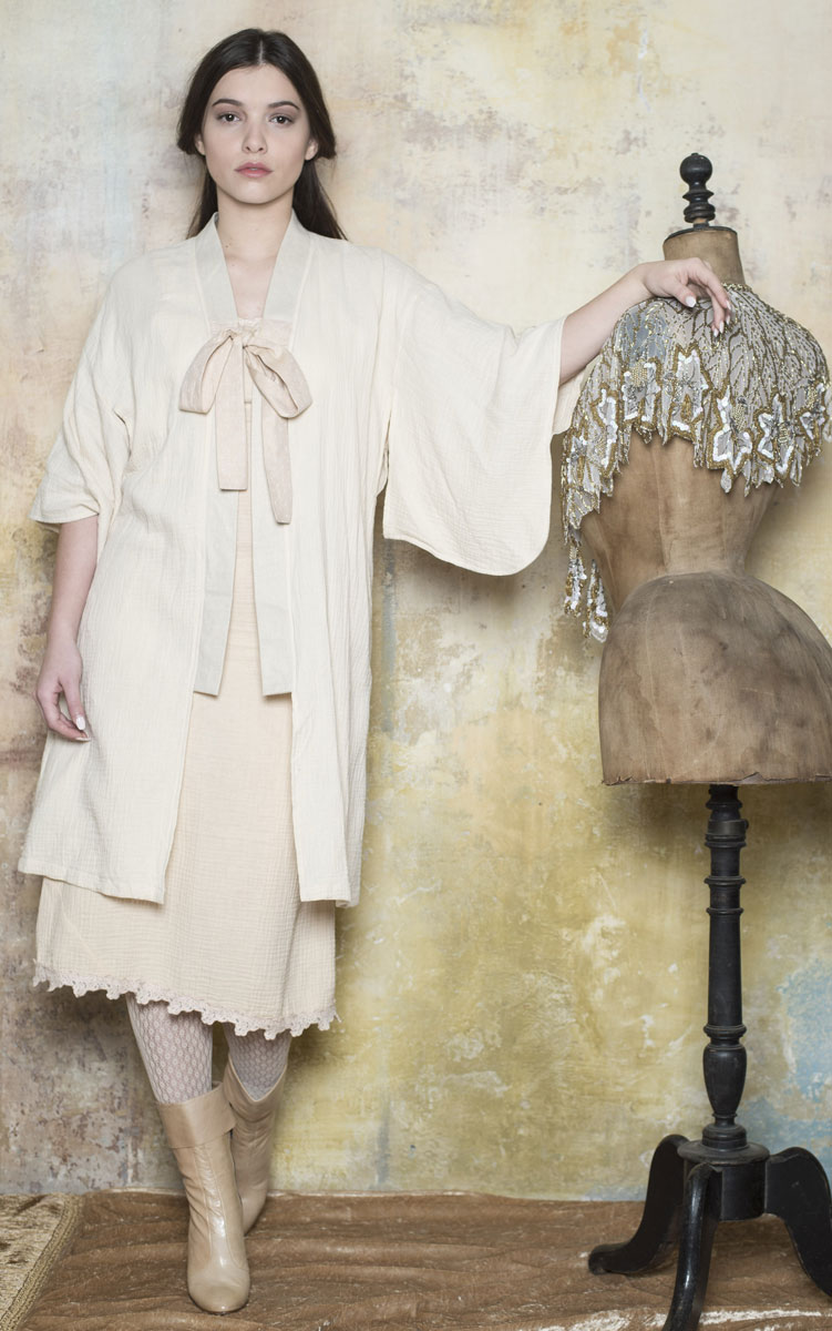 Kimono Céleste Cream - Collection Bohemian Vintage