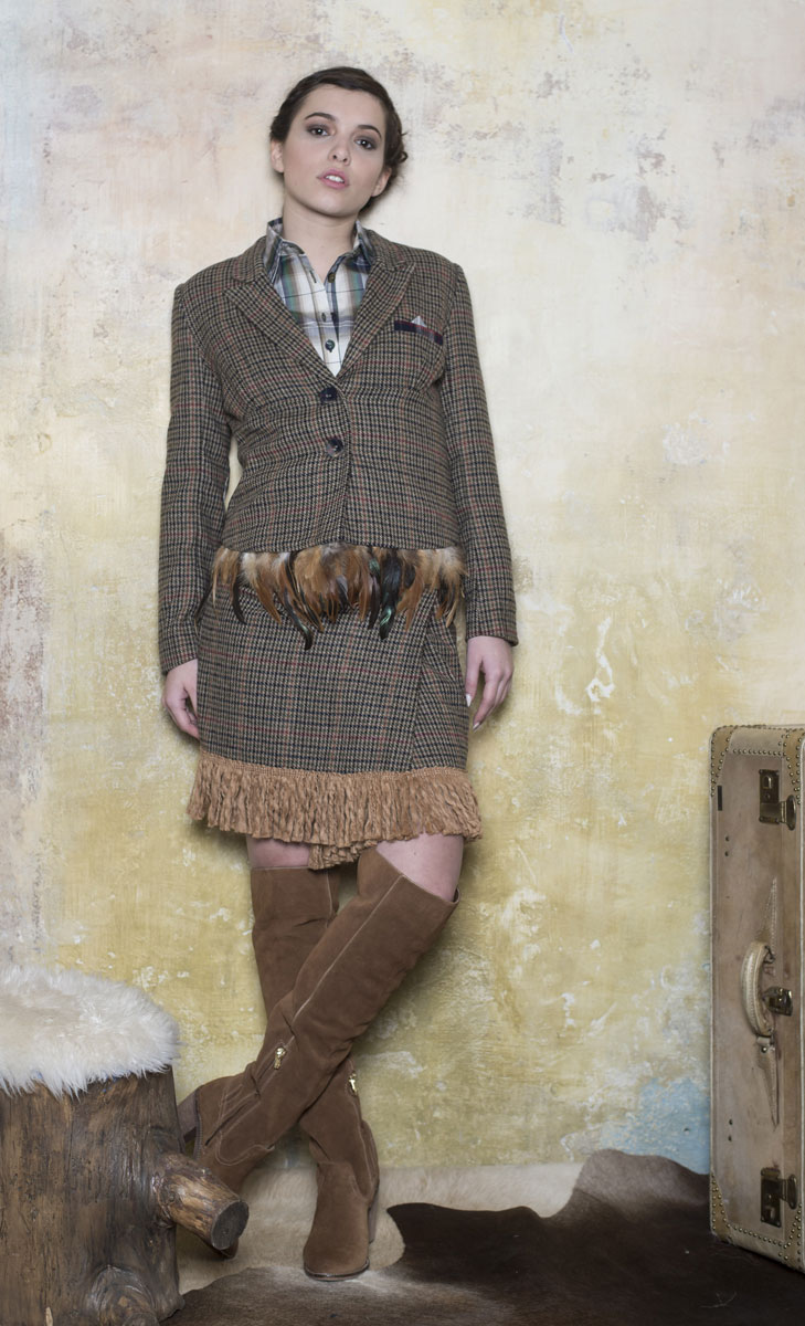 Veste Courtney  Kaki Tartan - Collection Country