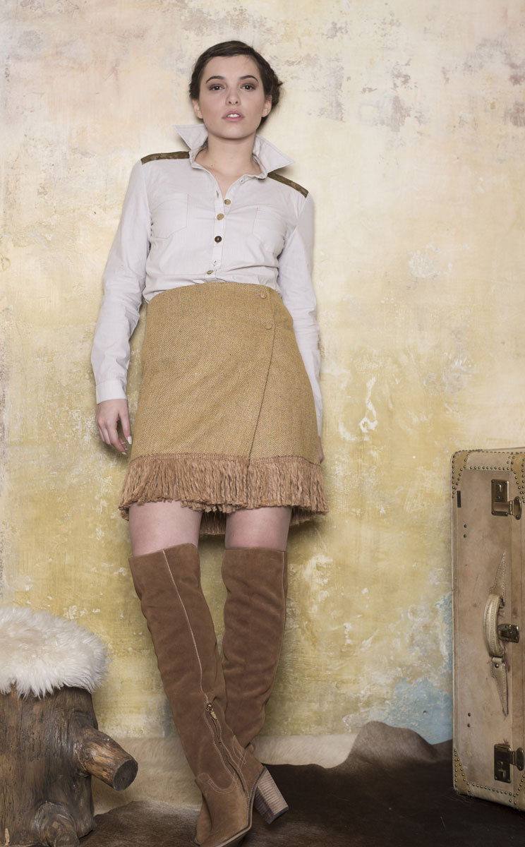Jupe Delly  Brown - Collection Country