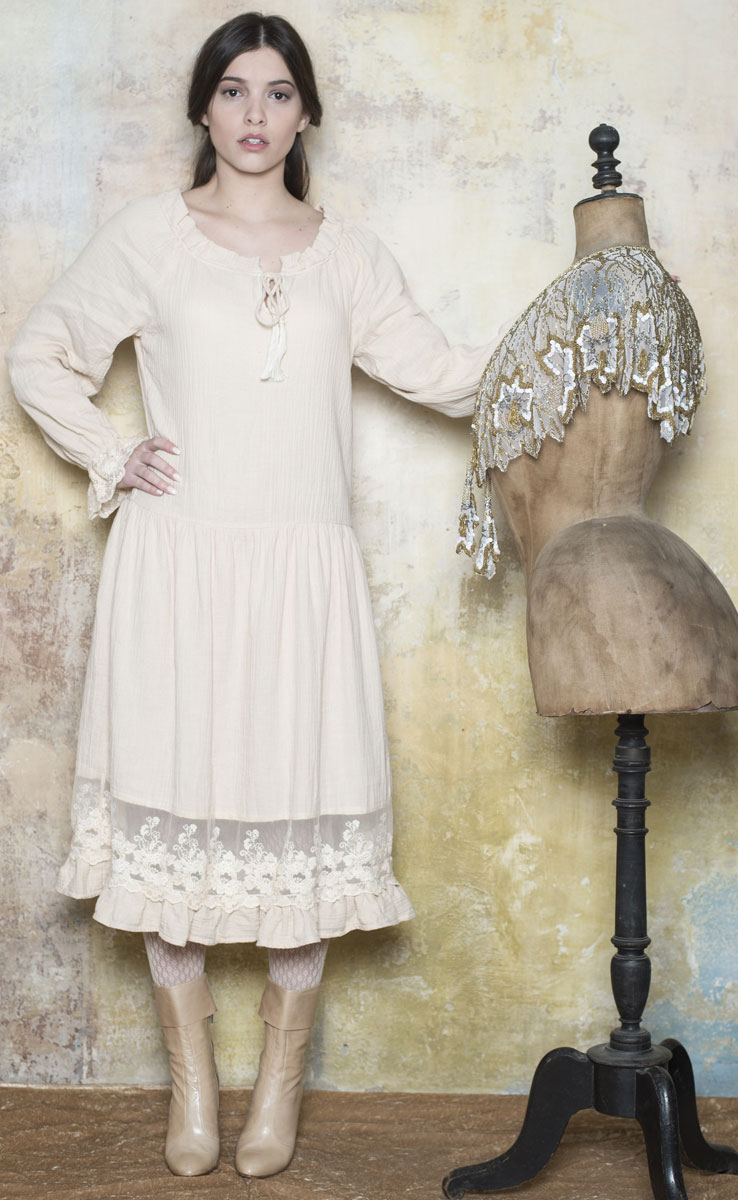 Robe Eglantine Cream - Collection Bohemian Vintage