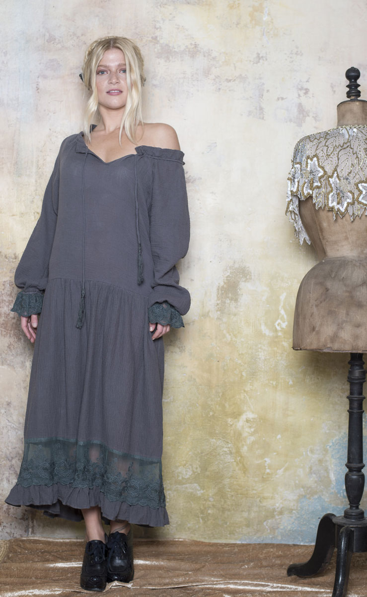 Robe Eglantine Grey - Collection Bohemian Vintage