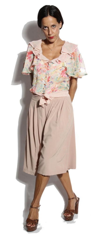 Jupe Culotte Gertrude Beige - Power Girl