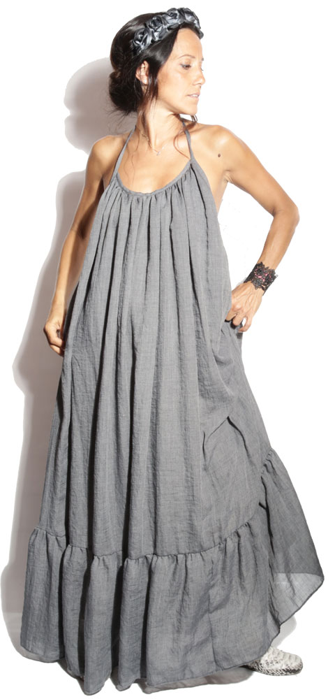 Robe Longue Hippy Anthracite - Boheme