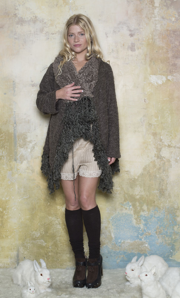 Gilet Mohair Taupe - Collection Petite Laine