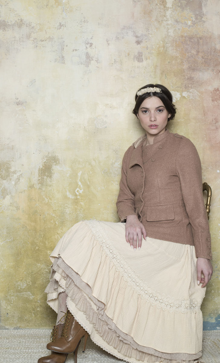 Manteau Rosalie Taupe - Collection Marie Louise