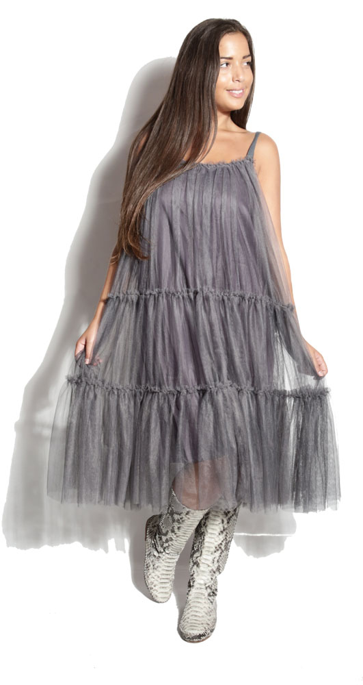 Robe Wonderful Gris - Crazy Girl