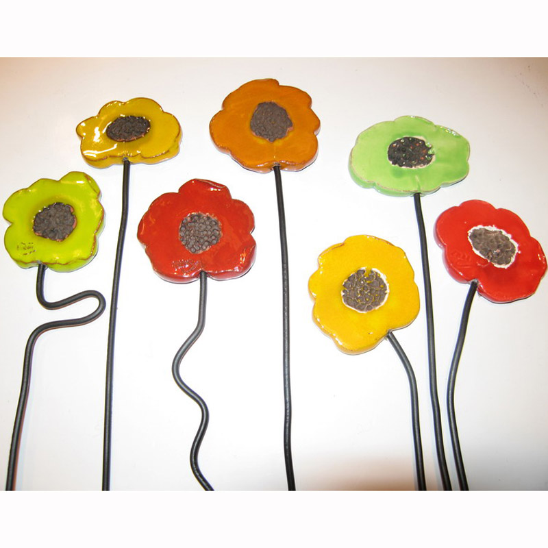 fleur d corative en c ramique la petite fleur du panier d coration les cr ateurs marseillais. Black Bedroom Furniture Sets. Home Design Ideas