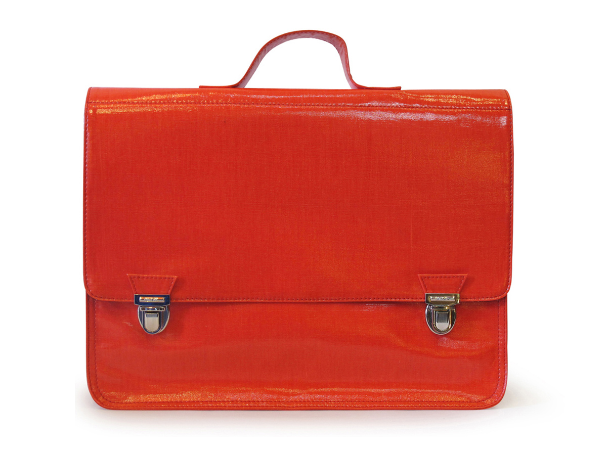 Grand cartable rouge L'Ambitieux (L) Coton Gloss