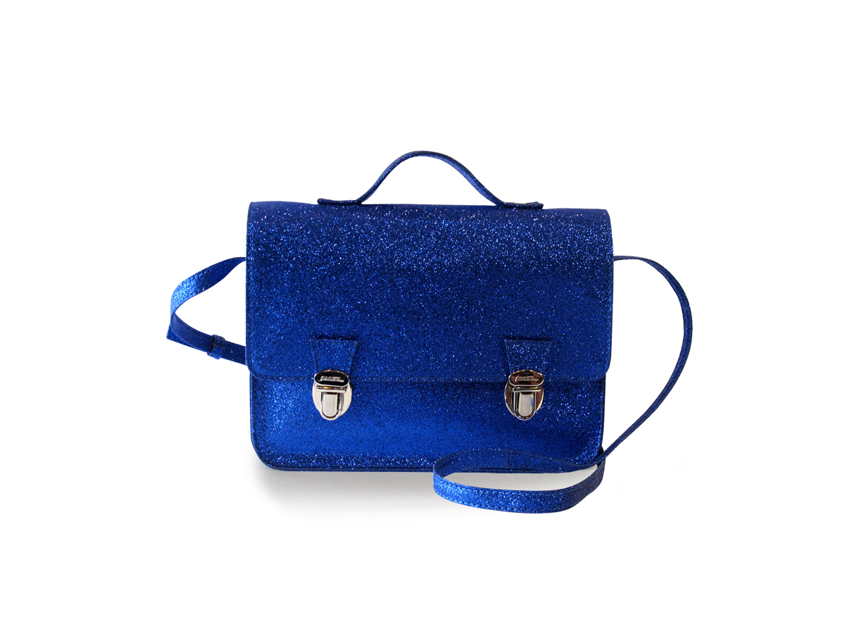 Mini cartable bleu (XS) Glitter Blue
