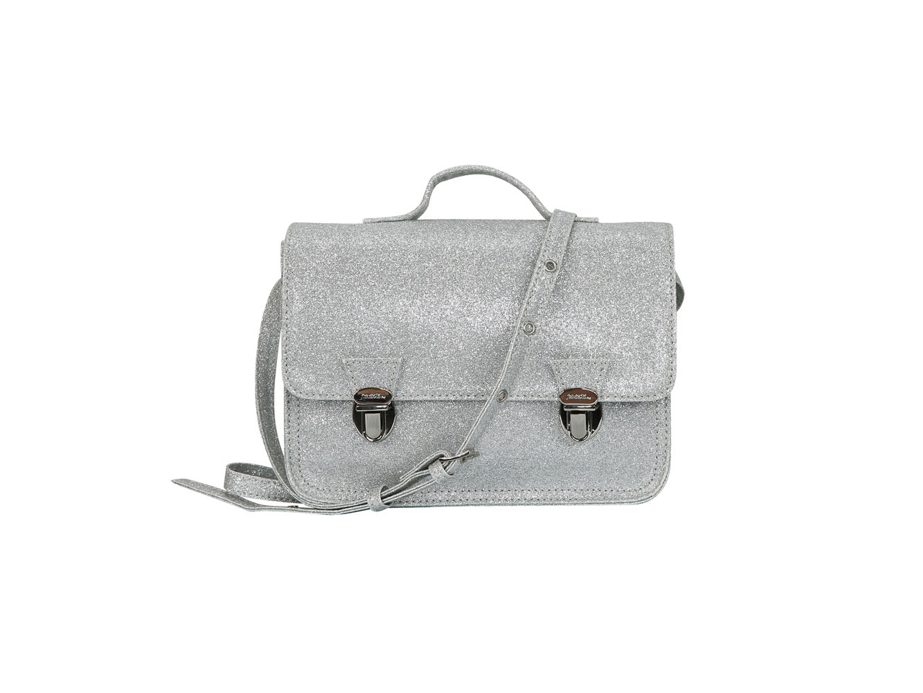 Mini cartable argenté (XS) Glitter Silver