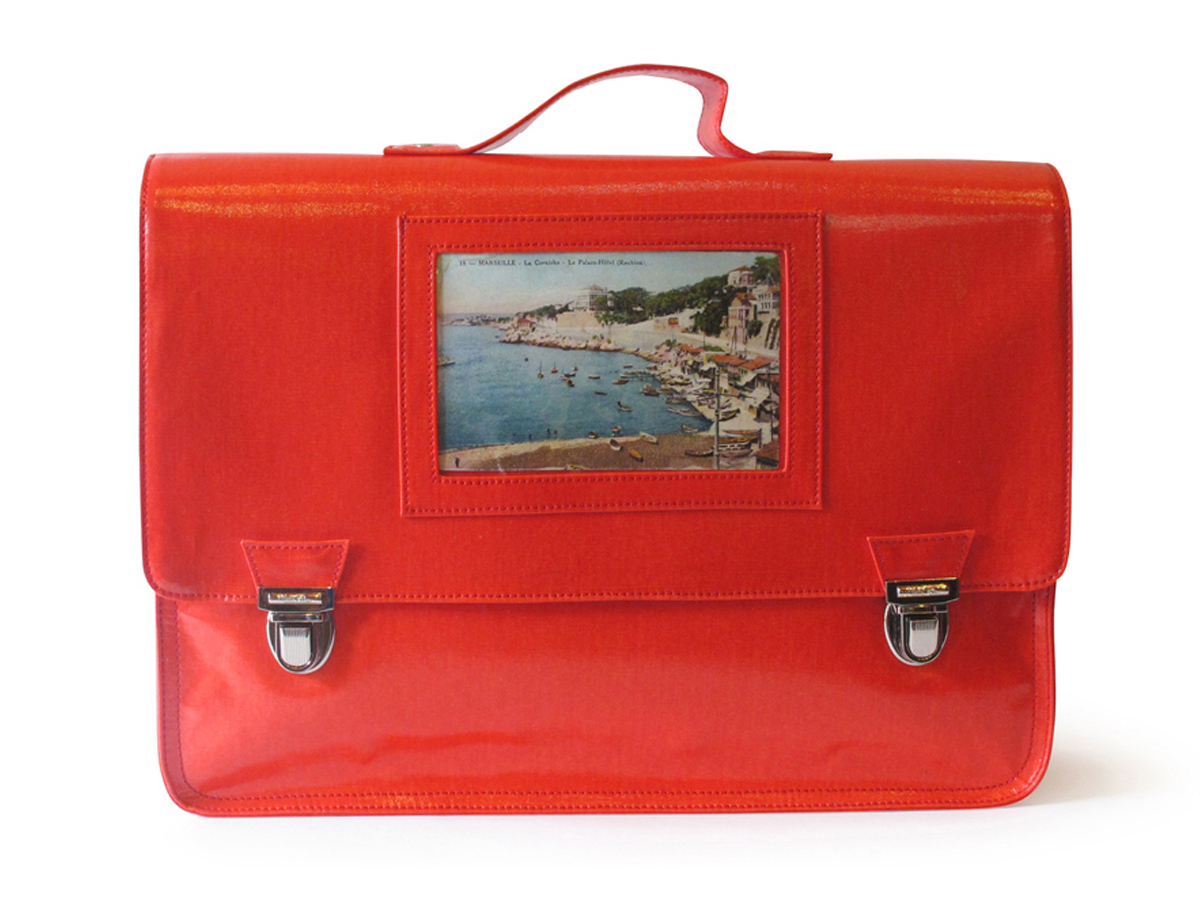 Grand cartable rouge L'Ambitieux-Photo (L) Coton Gloss
