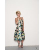 Robe Marilyne navy flower - Collection Wall Street