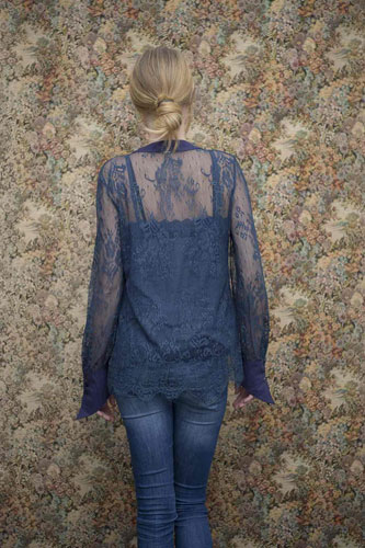 Chemise Rose Bleu Nuit - Collection Effeuillage