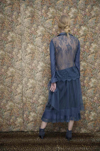 Chemise Evie Bleu Nuit - Collection Effeuillage