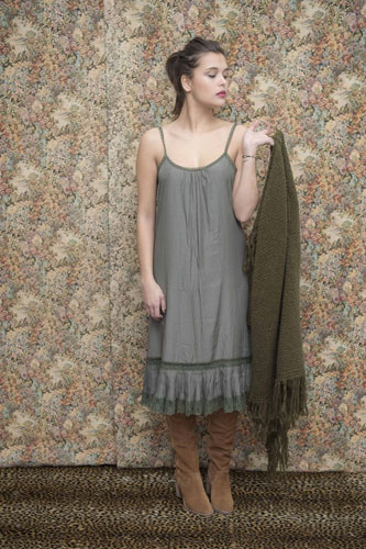 Robe Nuisette Coco Vert de Gris - Collection Effeuillage