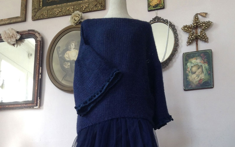 Pull Sweety Bleu Nuit - Collection Maille