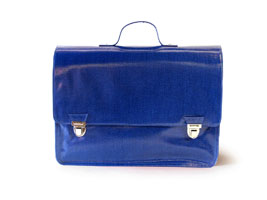 Grand cartable bleu L'Ambitieux (L) Coton Gloss
