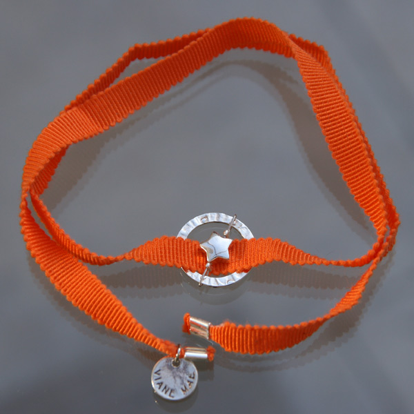 Bracelet Feel'in colors argent étoile-orange