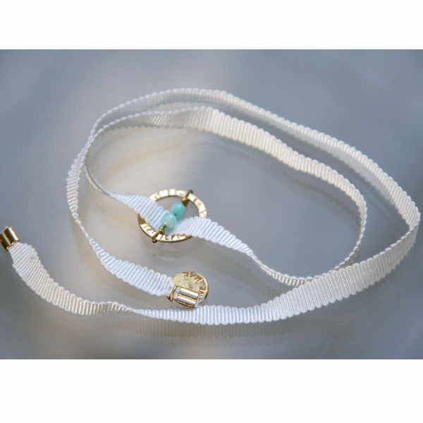 Bracelet Feel'in colors or amazonite-blanc