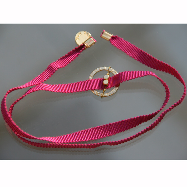Bracelet Feel'in colors or carré-fuchsia