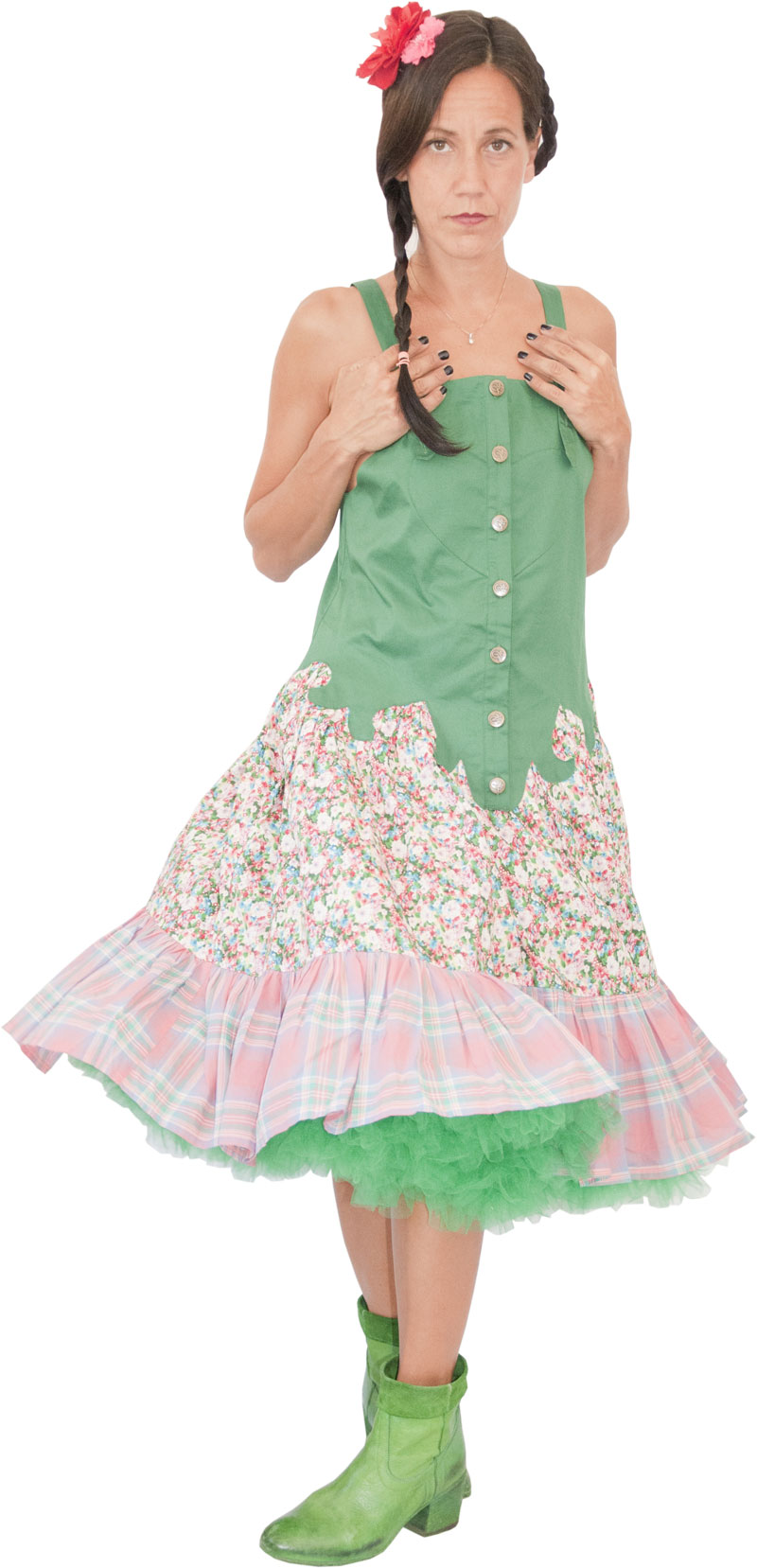 Robe Apache Green Collection Lilisko