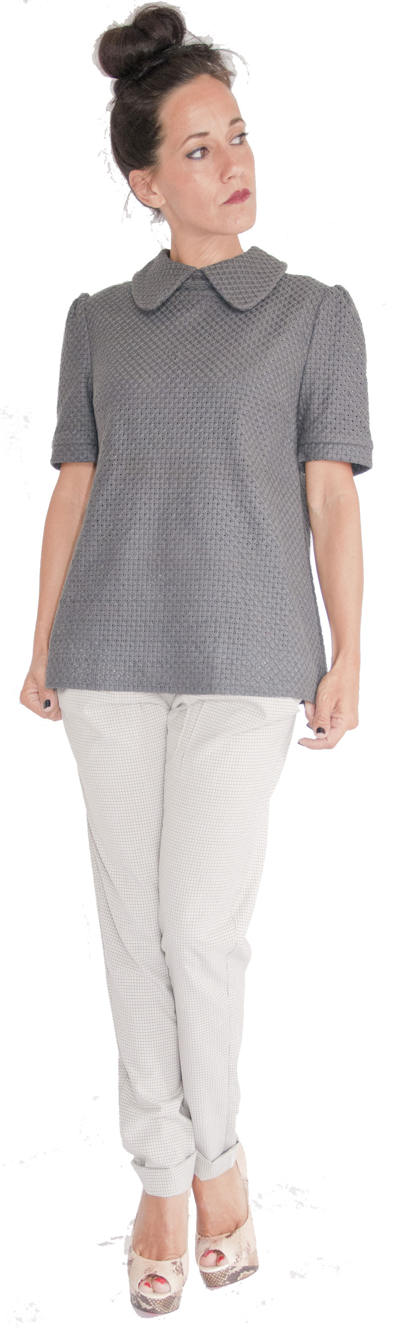 Top Claudine Grey Collection Jolie Madame