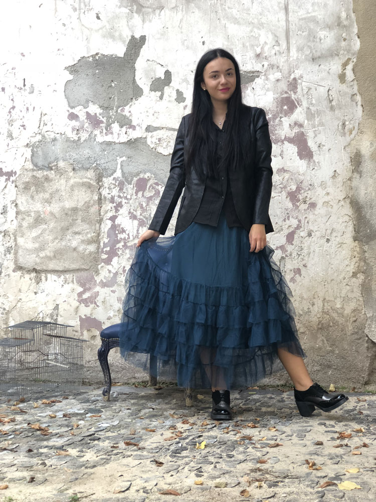 Jupon long Crazy Jupon Navy - Collection Tulle