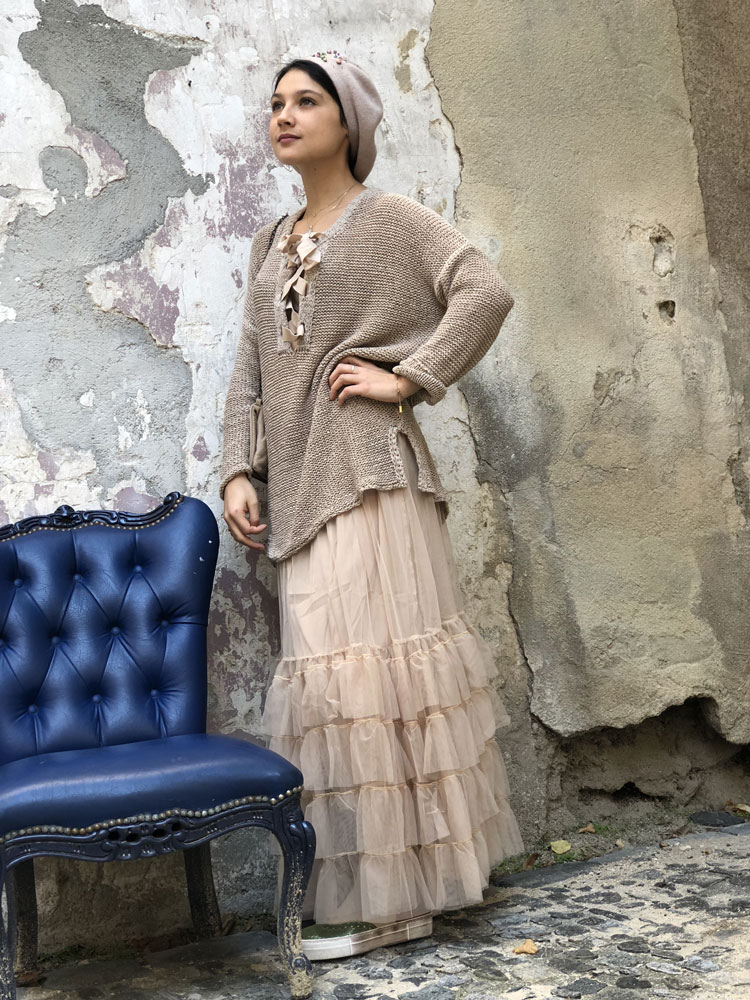 Jupon long Crazy Jupon Nude - Collection Tulle