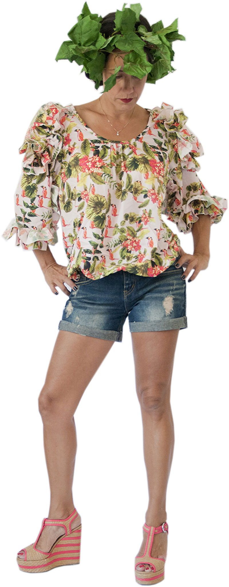 Top Delia Jungle Collection Hippy Chic