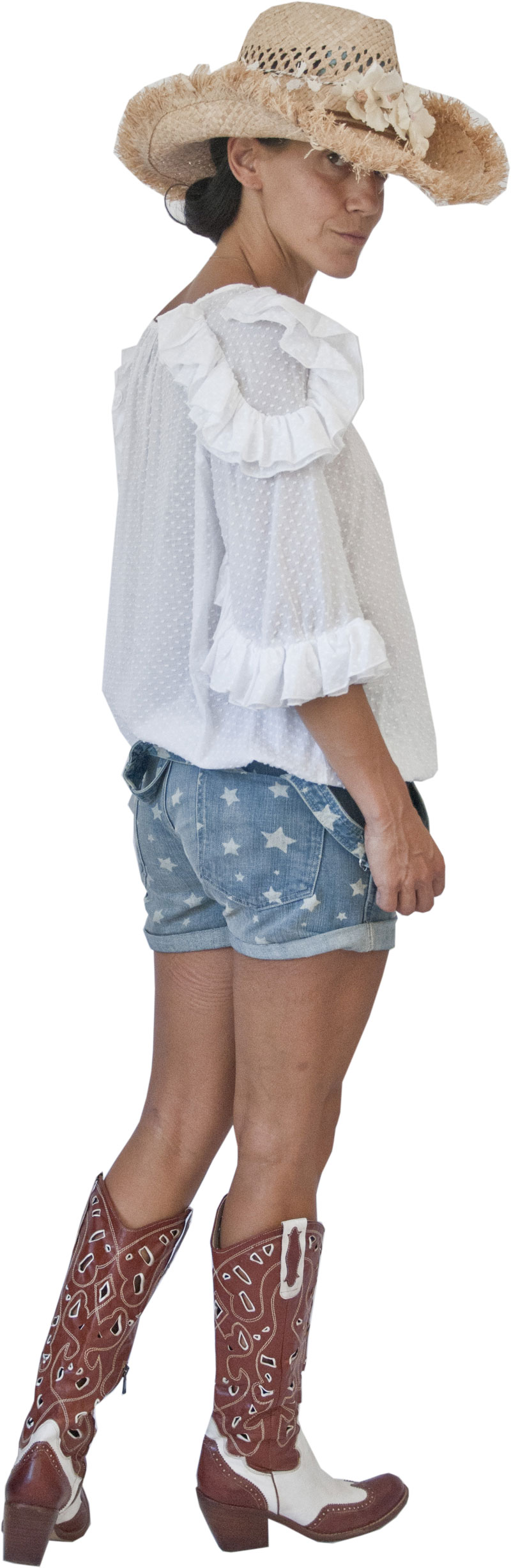 Top Delia White Collection Hippy Chic
