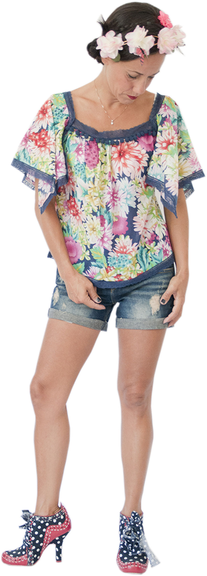 Top Peace Navy Collection Hippy Chic