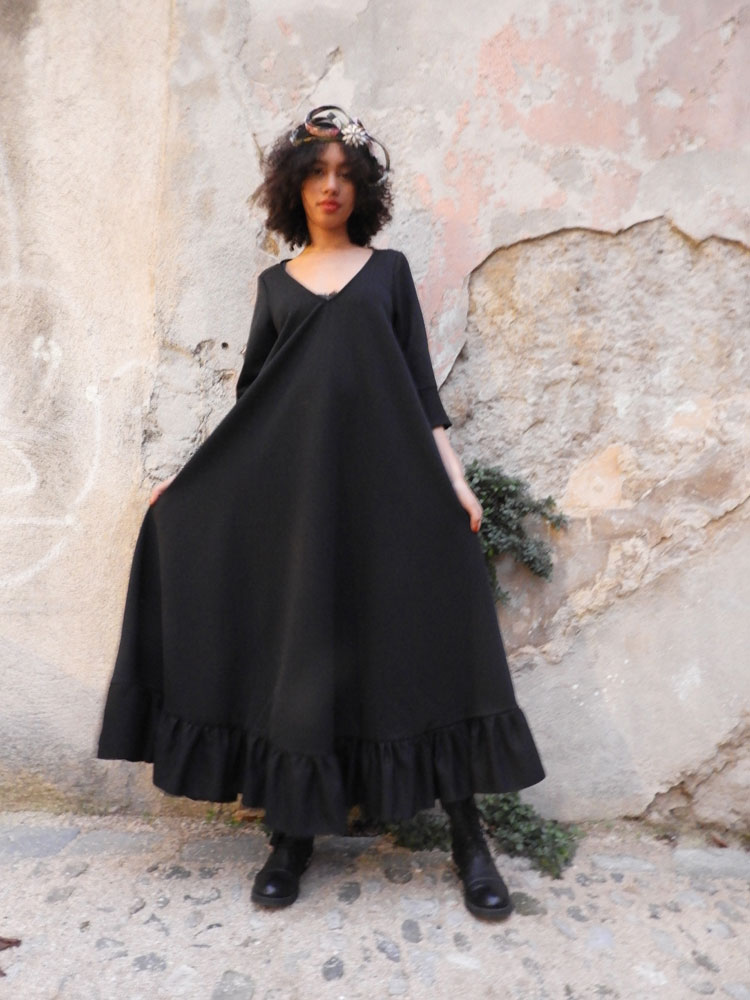 Robe longue Fairlie Black - Collection Scootish